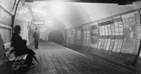 Interior of London subway in the 1890s