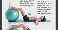 repost IF YOU'RE IN! #WHWeekendChallenge www.womenshealthmag.com/fitness/weekend-challenge-stability-ball-hip-raise?cm mmc=Pinterest- -womenshealth- -content-fitness- -weekendchallengeDec20