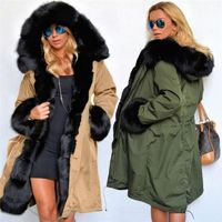 JFCA Fashion Winter Jacket Women New Long Parka Coat Big Raccoon Fur Collar Hooded Parkas Thick Outerwear Stree Style £47.24