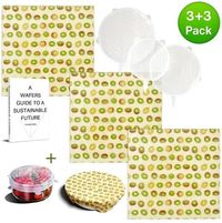 WAFE reusable beeswax wraps are the perfect sustainable alternative to plastic cling-film which saves you money. Our eco-friendly wrap set comes bundled with silicone food bowl covers as added bonus. Both easy to use and clean, making it great for everyda...