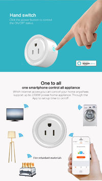 XS-SSA01-3 AC100-240V 10A US Standard Alexa Smart WIFI Socket Mobile Phone Timer Switch Socket Remote Control Smart Home