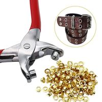 100 Pcs 4mm Titanium Eyelets Washer Leather DIY Shoes Cloth Craft Repair Grommet $6.16