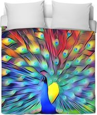 Peacock Feathers Duvet Cover $120.00