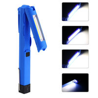 LED+COB 300LM 4 Modes Foldable Magnetic Tail USB Rechargeable Flashlight Work Lamp Light Mini Torch