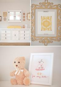 Modern, Feminine Nursery in Coral and Gray