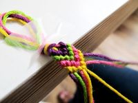 Friendship bracelet - These never get old! I could never figure out the Vs. Turns out they're really easy.
