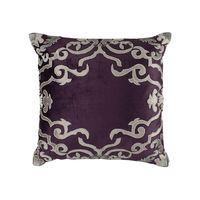 Valencia Plum & Platinum Pillow by Lili Alessandra $360.00
