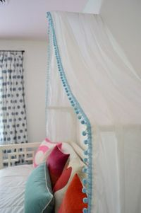 Making A Sweet & Simple Bed Canopy   Young House Love