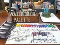 Mish Mash: Workspace Wednesday...Creating Your Own Watercolor...